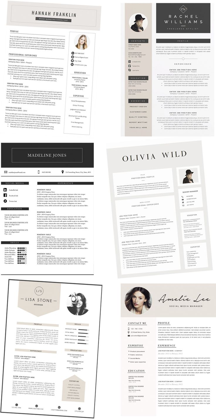Here you can find the most stylish CV - Resume templates: http://www.idealista.fi/charandthecity/2017/02/22/cv-template/