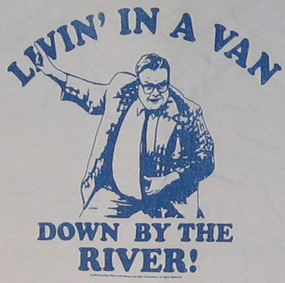 SNL - Chris Farley - Livin' in a van down by the river! FIrst created at the Ark Improvisational Theatre in Madison
