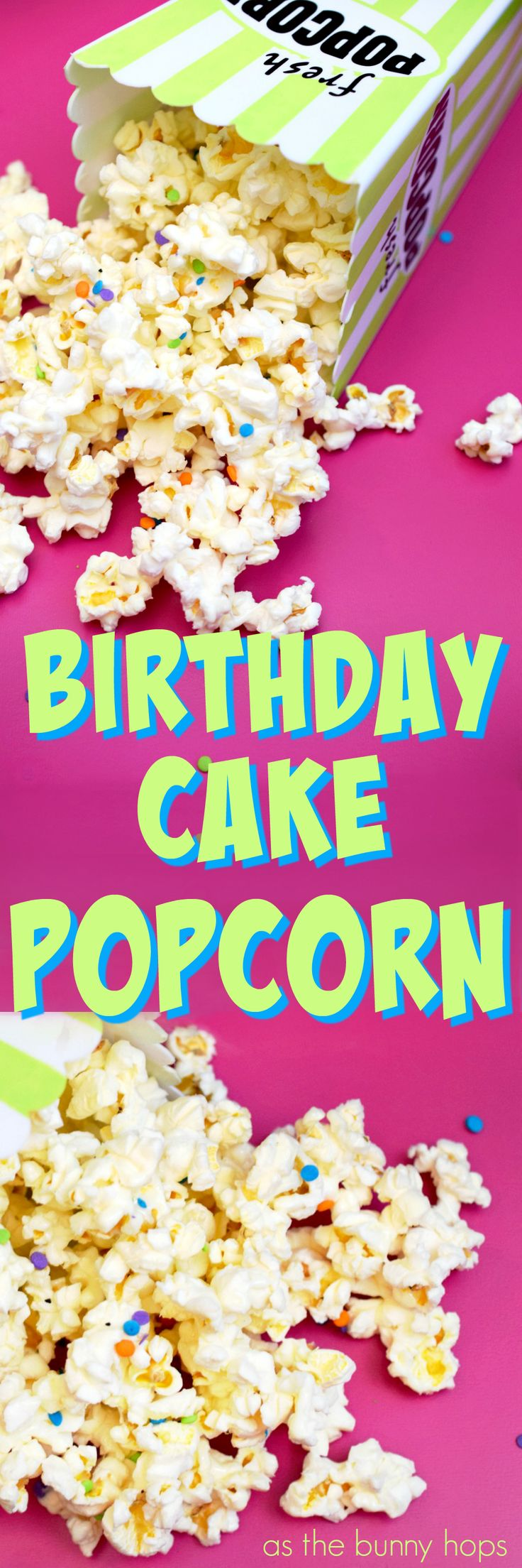 Celebrate family movie night with this easy birthday cake popcorn recipe! It's ready to enjoy in just a few minutes and it only requires three ingredients! AD #SummerIsForSavings