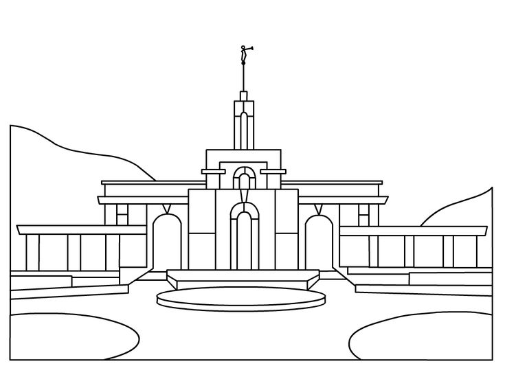 free lds clipart to color for primary