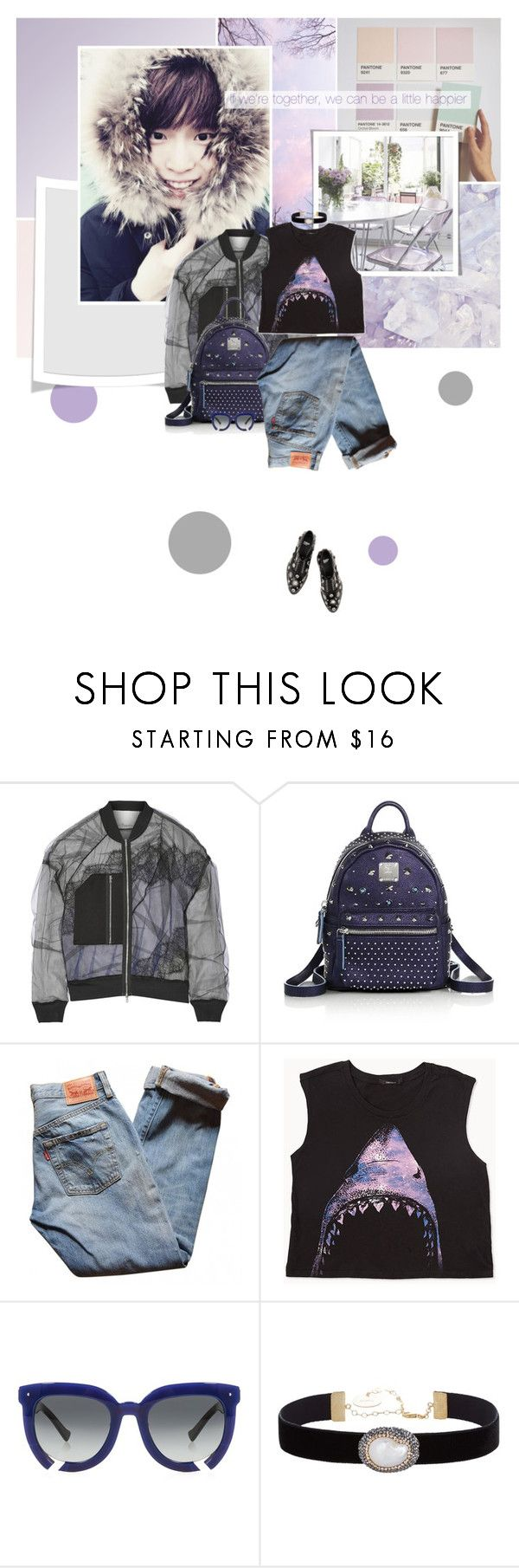 """""""Without You"""" by bibibaubau ❤ liked on Polyvore featuring 3.1 Phillip Lim, MCM, Levi's, Forever 21, Grey Ant, Soru Jewellery and Toga"""