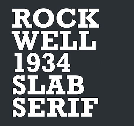 Credit: Domenic Lippa RockwellRockwell is an instantly recognisable slab serif font where the serifs are similar in weight to the horizontal strokes of the letters. Designed by the Monotype foundry's inhouse design department in 1934, its distinctiveness originates from its geometric form. Although primarily used as a display font, it is the type of font that adds personality to any piece of design. Most typefaces need to be respected and work with your design; however Roc…
