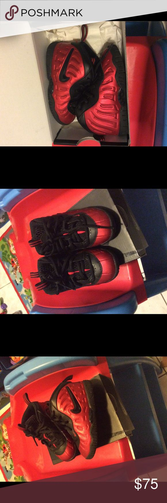 Nike lil foam posites Nike lil foam posites like new no scuffs used twice. Price is firm!!!!! Nike Shoes Sneakers