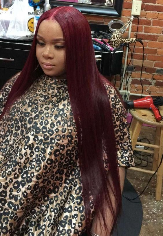 Beautiful long straight hairstyles wigs for black women lace front wigs human ha…