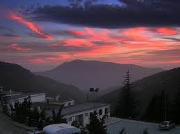 Red sky in Capileira