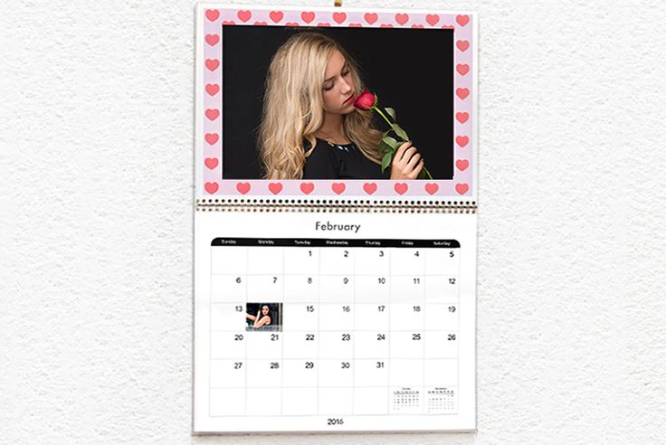 £6 instead of £17.50 (from Truprint) for a personalised A3 photo calendar - surprise someone this Valentine's Day and save 66%