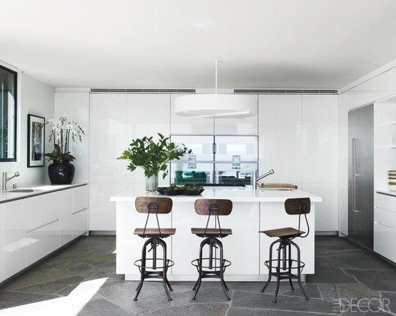 white gloss kitchen cabinets - Google Search