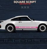 Sticker side skirts, square look, corresponds (replica) of the early 91 …
