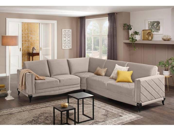 Delavita Ecksofa Brahms Federkern Hohe Holzfusse In Edler Optik Ka In 2020 Sofa Couch Home Decor