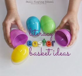 The best educational Easter basket ideas:  Alphabet + number for bath and painting projects