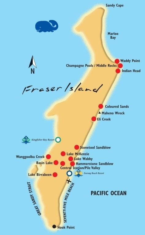 fraser island map - Google Search