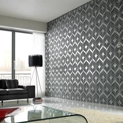 Silver Metallic Wallpaper Love This For An Accent Wall