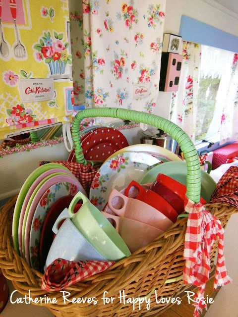 cute vintage caravan accessories....HAPPY LOVES ROSIE: Catherine Reeves Vintage Caravan - LUCY