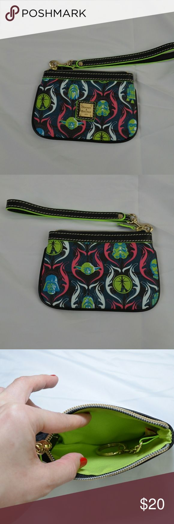 Dooney & Bourke Star Wars small wristlet From 2015's star wars weekends, this is a perfect little change purse for the Star Wars enthusiast!!  NWOT. Dooney & Bourke Bags Wallets