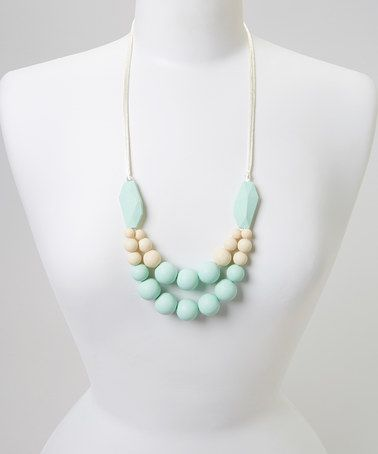 Another great find on #zulily! Mint Evelyn Teething Necklace & Bracelet  - Women #zulilyfinds