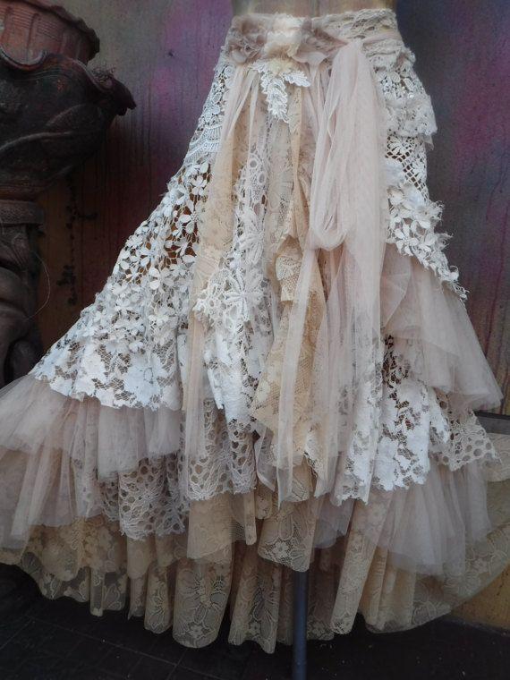 Hey, I found this really awesome Etsy listing at https://www.etsy.com/listing/513222001/20off-weddingtattered-skirt-boho-mori