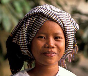 Krama head dress Cambodia.