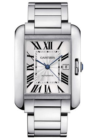 Cartier Tank Anglaise stainless steel watch, large - A seriously, serious watch - Love it - Want it -