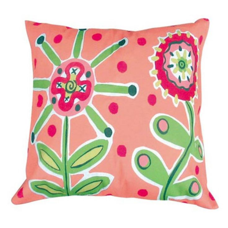 Fresh Lime Flowers Pillow - WF1LCS