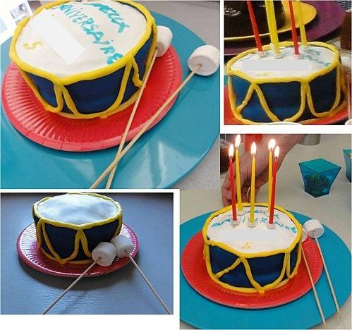 gâteau tambour: thème du cirque