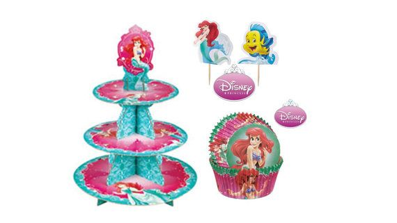 Little Mermaid Cupcake Stand with Little Mermaid di JudysPartyShop