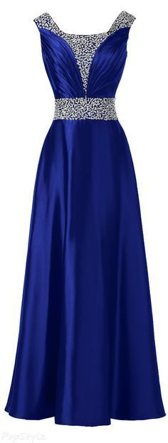 Royal Blue Prom Dress,Beaded Prom Dress,Fashion Prom Dress,Sexy