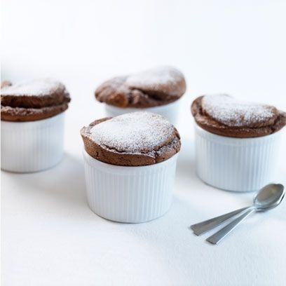Mary Berry's hot chocolate soufflés | Dessert recipes - Red Online