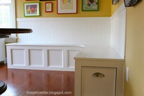 16 best images about corner booth on pinterest kitchen for Built in kitchen booth