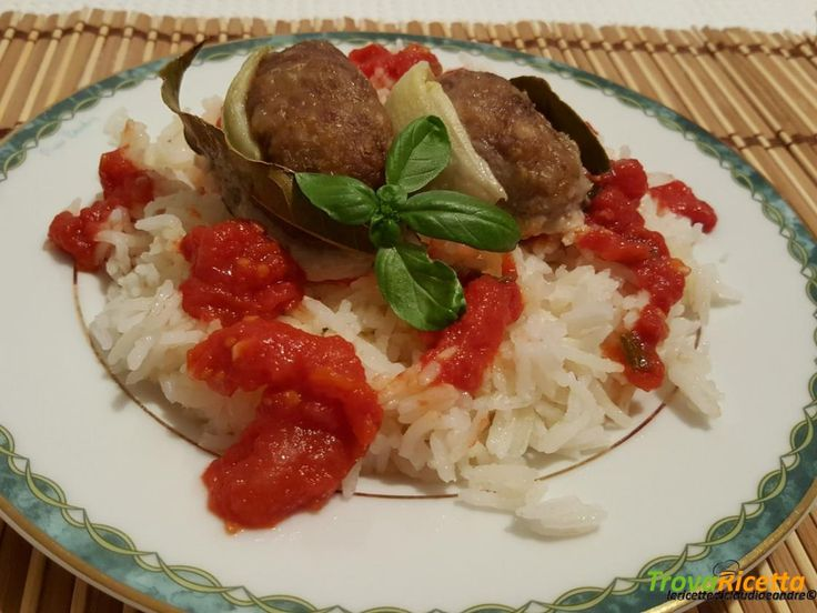Ruota di carne macinata con riso basmati e salsa di pomodoro  #ricette #food #recipes
