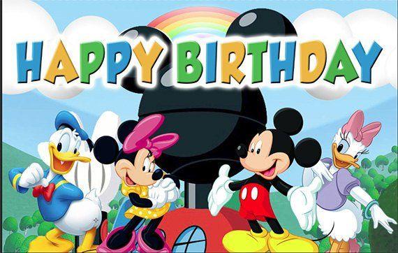 Personalised Disney Micky And Minnie Anniversary Birthday Birthday Print