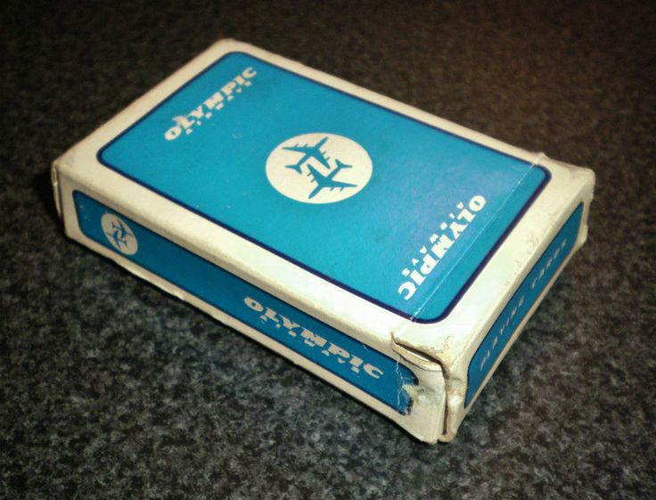 Greek OLYMPIC AIRWAYS VINTAGE PLAYING CARDS DECK BRIDGE 1