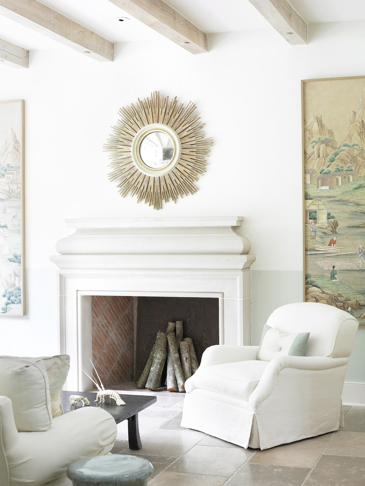 Calm simple white aaa arredamento 3 pinterest for White mirrors for living room