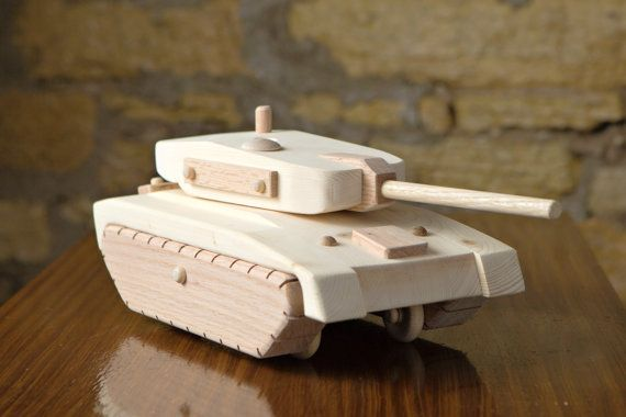 Wooden Army Tank Toy by KringleWorkshops on Etsy
