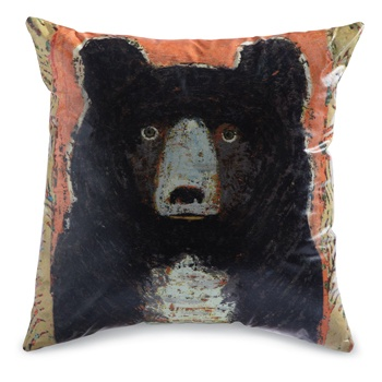 Black Bear Indoor/Outdoor Pillow