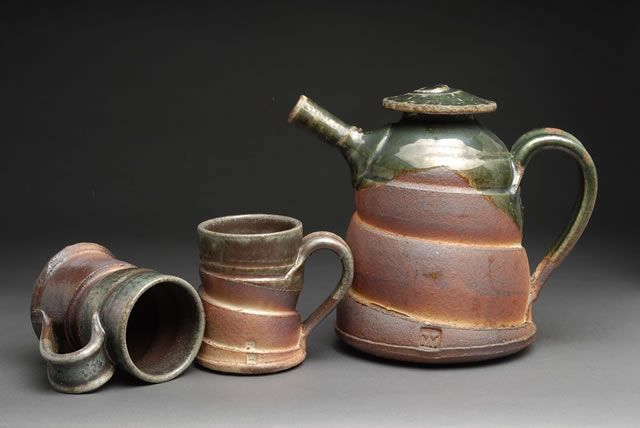Wood Fired Pottery :: Tea Pots and Cups :: Tom White Pottery