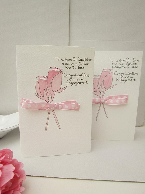 Daughter Engagement Card Son Engagement Card Engagement Card