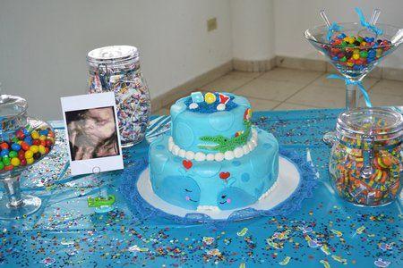 17 lindos pasteles para un baby shower de ni o mesas for Mesa de dulces para baby shower nino