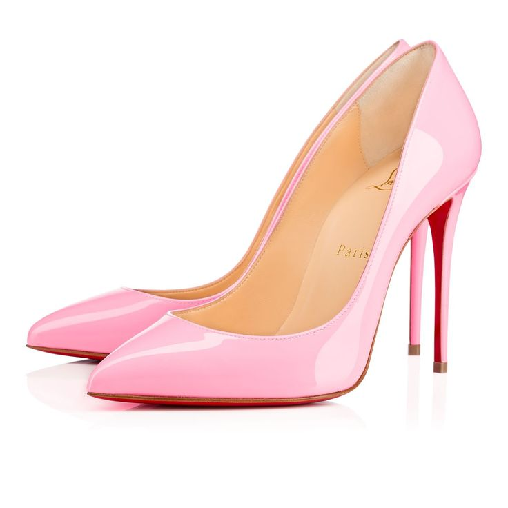 """A variation on a beloved theme, """"Pigalle Follies"""" is our number-one icon, """"Pigalle,"""" refitted with a slightly shorter toe box and a superfine stiletto heel. The effect is an elegant silhouette with a feminine 100mm pitch. Brighten things up in irresistible dolly patent leather."""
