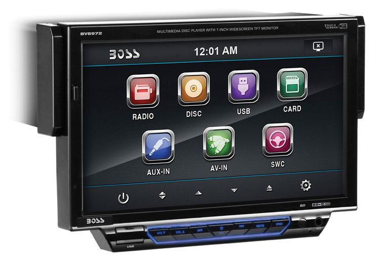 BOSS Audio BV8972 In-Dash Single-Din 7-inch Motorized Detachable Touchscreen DVD/CD/USB/SD/MP4/MP3 Player Receiver with Remote