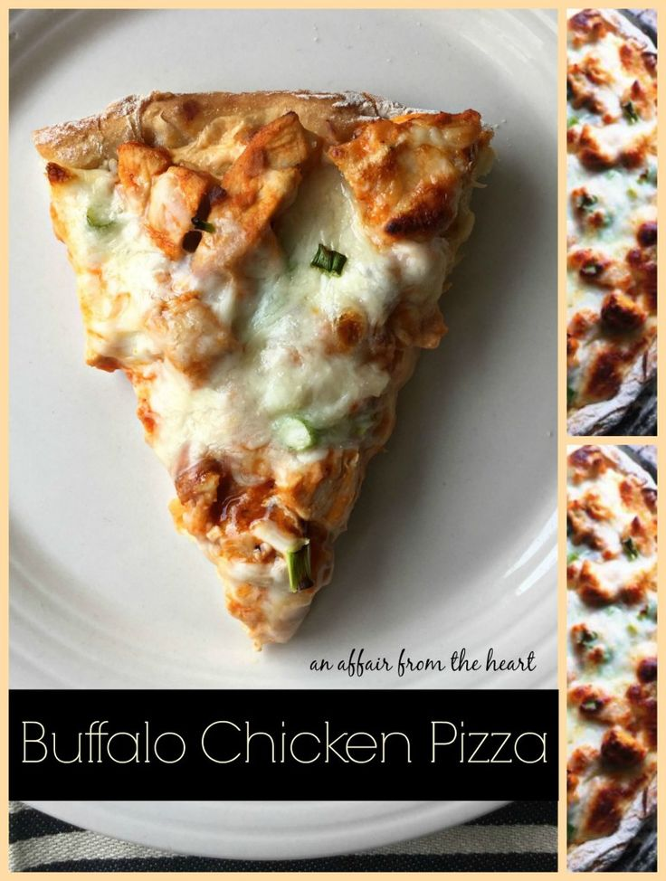 die for Buffalo Chicken Pizza with only 6 ingredients and have dinner ...