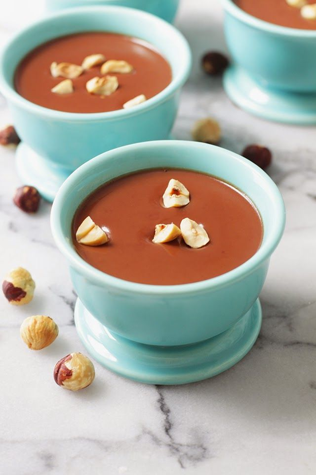 Chocolate Hazelnut Panna Cotta | Yummies | Pinterest