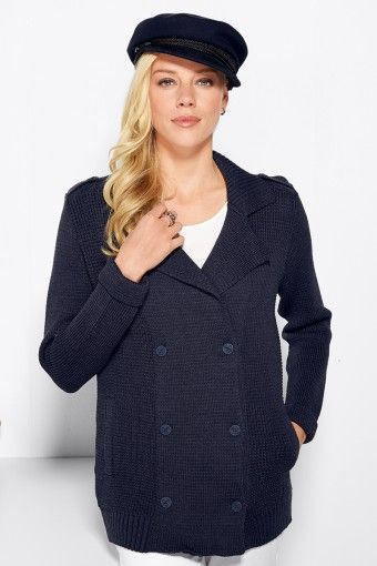 Veste caban laine femme