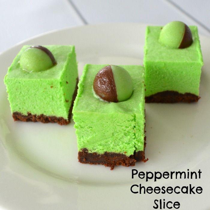 Peppernint Cheesecake Slice