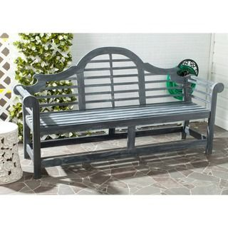 Shop for Safavieh Outdoor Living Khara Ash Grey Acacia Wood Bench. Get free shipping at Overstock.com - Your Online Garden