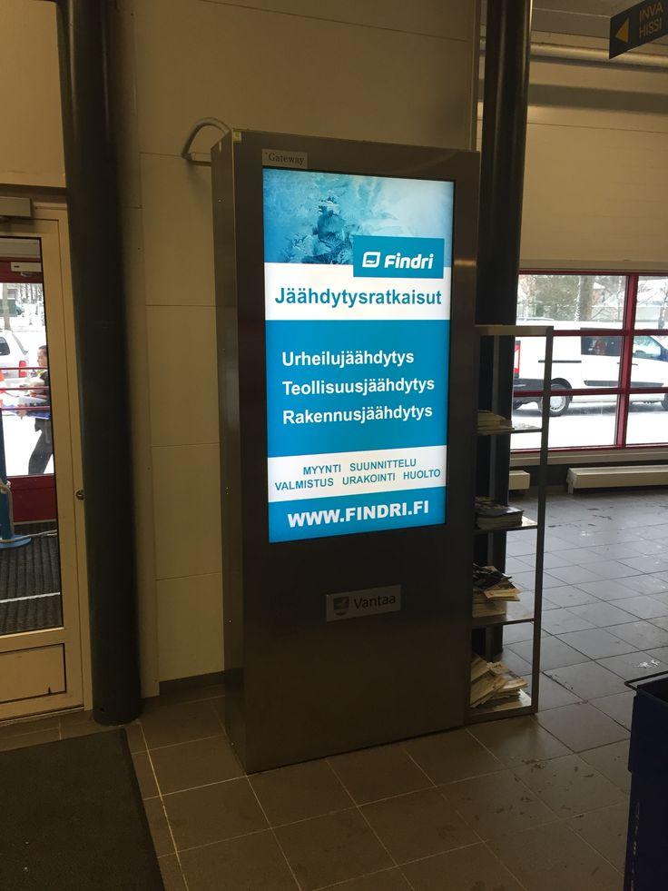 Findri sponsoroi Vantaan kaupungin liikuntapaikkoja.