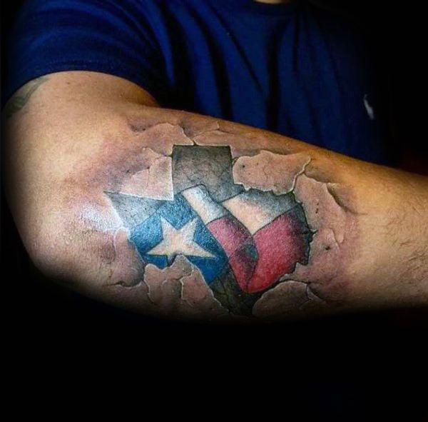 70 Texas Tattoos For Men Lone Star State Design Ideas Tattoos
