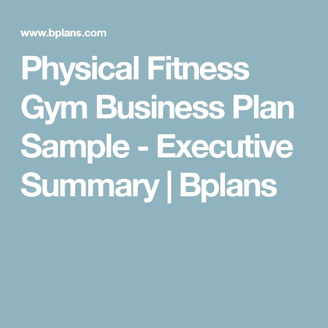 Physical Fitness Gym Business Plan