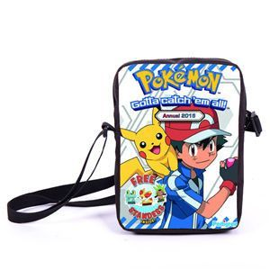 Anime Pokemon Pikacun Mario Dragon Ball Mini Messenger Bag Girls Boys School Bags Kids Book Bag Shoulder Bags For Snacks Lunch