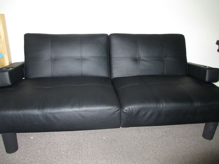 Black Futon In Collegestudentgarage Shawnee Ok For 100 A Faux Leather