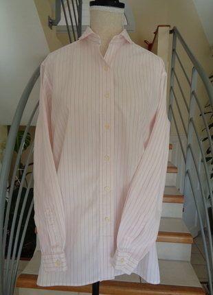 À vendre sur #vintedfrance ! http://www.vinted.fr/mode-femmes/blouses-and-chemises/30805090-chemise-blanche-rayures-roses-authentique-burberrys-of-london-annees-90s-vintage-taille-36-38-40